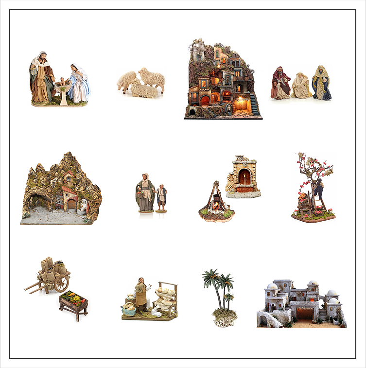 nativity scene… the tradition that continues over the centuries with scenary created by expert craftsmen who shape characters and settings with passion and talent